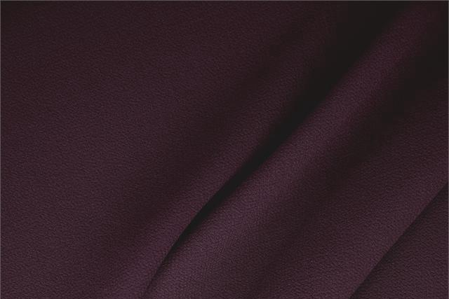 Buy online our clothing and fashion fabric 'Mosto' Purple  Wool Double Crêpe, Made in Italy. - new tess