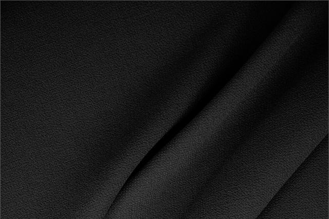 Buy online our clothing and fashion fabric Black  Wool Double Crêpe, Made in Italy. - new tess