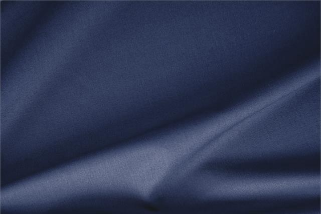 Buy online our clothing and fashion fabric 'Oceano' Blue Stretch, Wool Gabardine Stretch, Made in Italy. - new tess