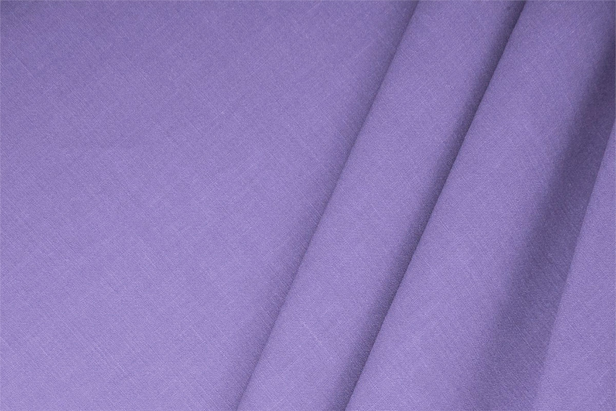Buy online our clothing and fashion fabric 'Lilla' Purple  Linen Blend, Made in Italy. - new tess