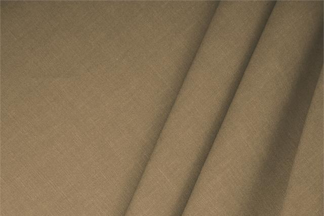 Buy online our clothing and fashion fabric Linen Blend Brown Sottobosco, Made in Italy. - new tess