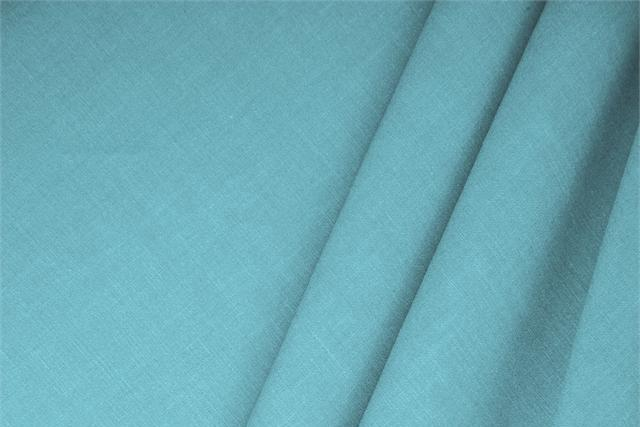 Buy online our clothing and fashion fabric Linen Blend Blue Turchese, Made in Italy. - new tess