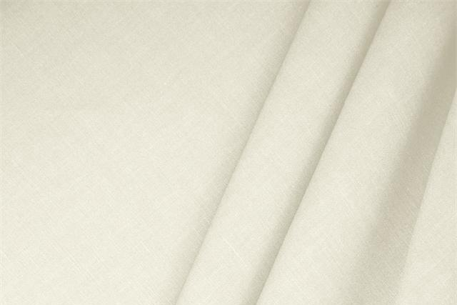 Buy online our clothing and fashion fabric 'Avorio' White  Linen Blend, Made in Italy. - new tess