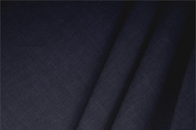 Buy online our clothing and fashion fabric Linen Blend Blue Notte, Made in Italy. - new tess