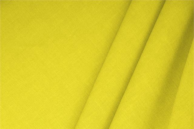 Achetez notre tissu pour habillement, haute couture et mode Mélange de lin Jaune 'Limone', Made in Italy. - new tess