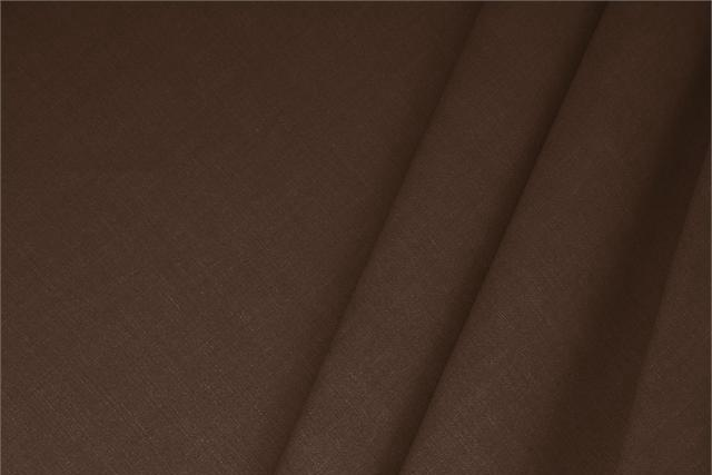 Buy online our clothing and fashion fabric Linen Blend Brown Cioccolato, Made in Italy. - new tess