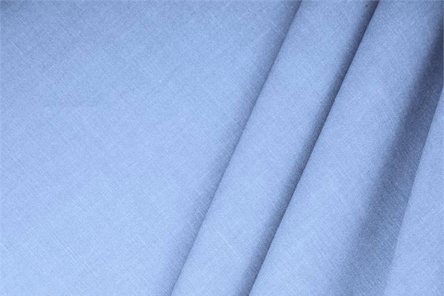 Buy online our clothing and fashion fabric 'Fonte' Blue  Linen Blend, Made in Italy. - new tess