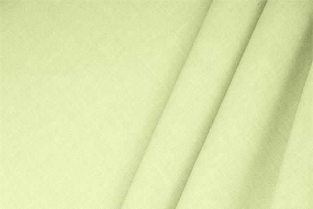 Buy online our clothing and fashion fabric 'Mela' Green  Linen Blend, Made in Italy. - new tess