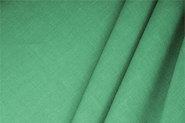 Smeraldo Green Linen, Stretch Linen Blend fabric for dressmaking