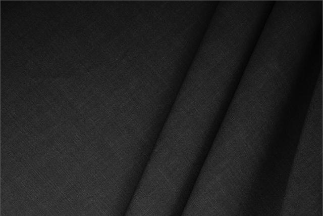 Buy online our clothing and fashion fabric Black  Linen Blend, Made in Italy. - new tess