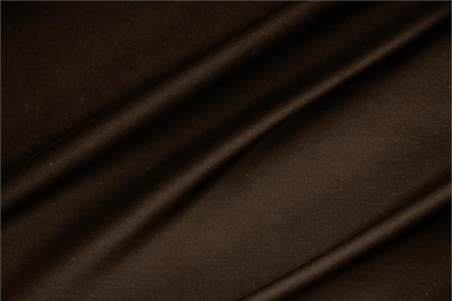 Buy online our clothing and fashion fabric 'Fondente' Brown  Lightweight cotton sateen stretch, Made in Italy. - new tess