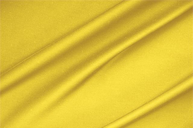 Achetez notre tissu pour habillement, haute couture et mode Satinette de coton stretch Jaune 'Limone' en Coton, Stretch, Made in Italy. - new tess