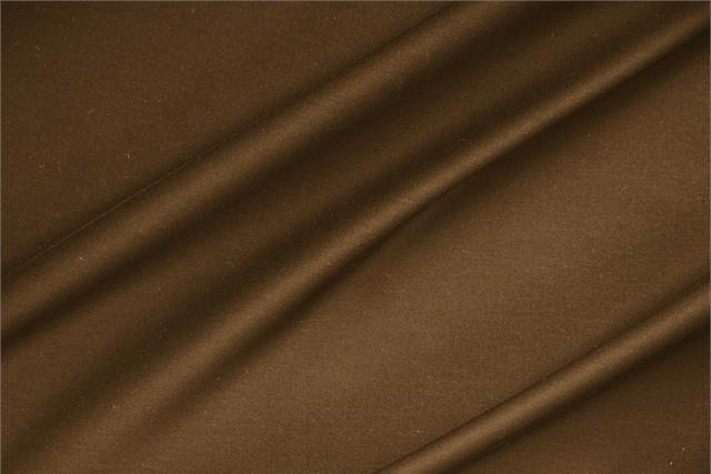 Buy online our clothing and fashion fabric 'Cacao' Brown  Lightweight cotton sateen stretch, Made in Italy. - new tess
