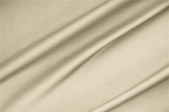 Buy online our clothing and fashion fabric 'Ecru' Beige  Lightweight cotton sateen stretch, Made in Italy. - new tess