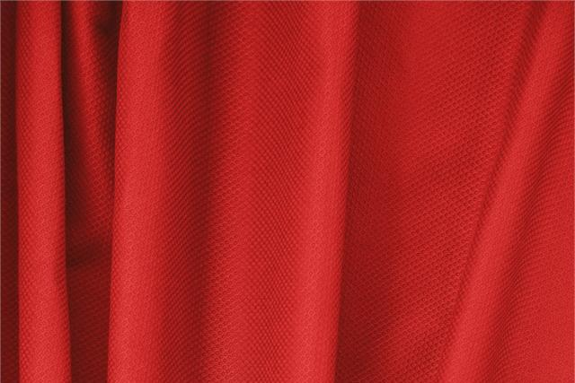 Buy online our clothing and fashion fabric 'Fuoco' Red Cotton, Stretch Piquet Stretch, Made in Italy. - new tess