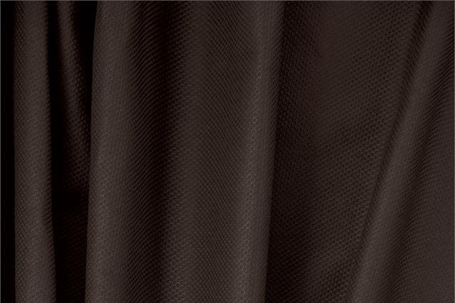 Buy online our clothing and fashion fabric 'Fondente' Brown Cotton, Stretch Piquet Stretch, Made in Italy. - new tess