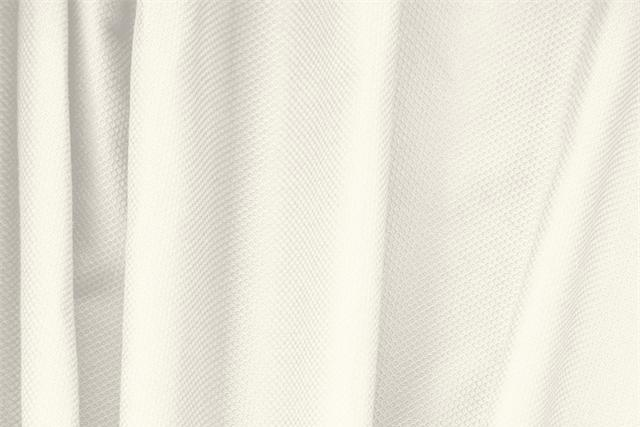 Buy online our clothing and fashion fabric 'Avorio' White Cotton, Stretch Piquet Stretch, Made in Italy. - new tess