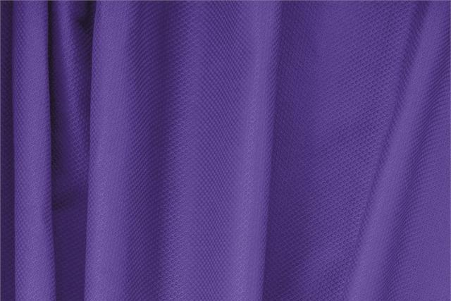 Buy online our clothing and fashion fabric 'Iris' Purple Cotton, Stretch Piquet Stretch, Made in Italy. - new tess