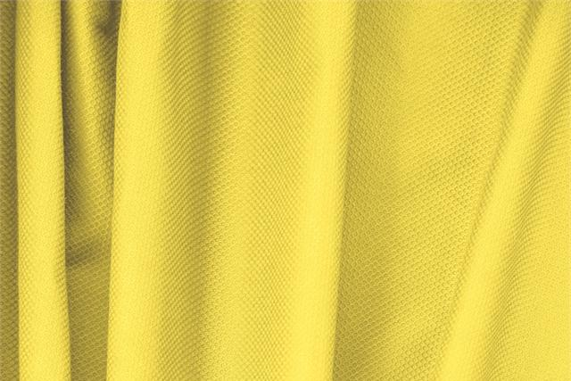 Buy online our clothing and fashion fabric 'Limone' Yellow Cotton, Stretch Piquet Stretch, Made in Italy. - new tess