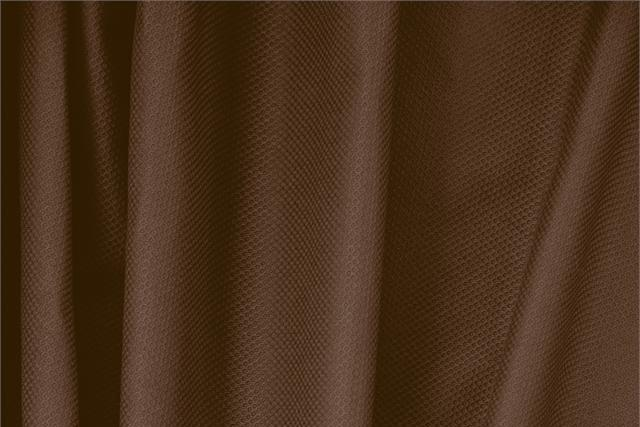 Buy online our clothing and fashion fabric 'Cacao' Brown Cotton, Stretch Piquet Stretch, Made in Italy. - new tess
