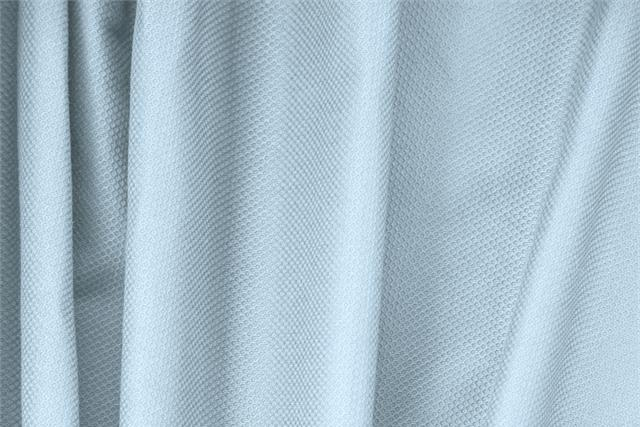 Buy online our clothing and fashion fabric 'Capri' Blue Cotton, Stretch Piquet Stretch, Made in Italy. - new tess