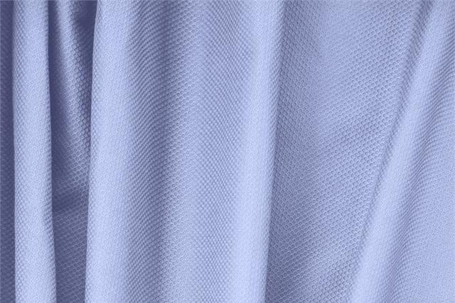Buy online our clothing and fashion fabric 'Fonte' Blue Cotton, Stretch Piquet Stretch, Made in Italy. - new tess
