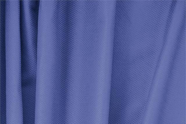 Tissu Piquet Stretch Bleu Zaffiro en Coton, Stretch pour vêtements