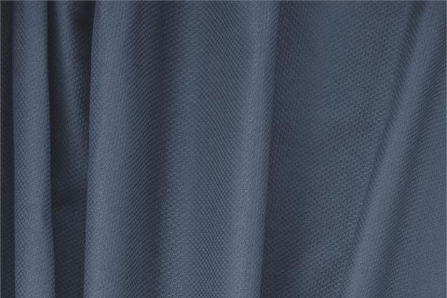 Buy online our clothing and fashion fabric 'Avio' Blue Cotton, Stretch Piquet Stretch, Made in Italy. - new tess