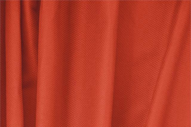 Buy online our clothing and fashion fabric 'Corallo' Orange Cotton, Stretch Piquet Stretch, Made in Italy. - new tess