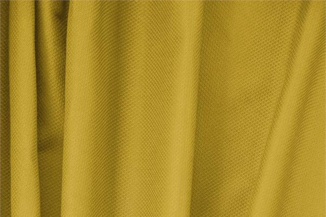 Buy online our clothing and fashion fabric 'Ocra' Yellow Cotton, Stretch Piquet Stretch, Made in Italy. - new tess