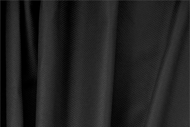 Nero Black Cotton, Stretch Piquet Stretch fabric for dressmaking
