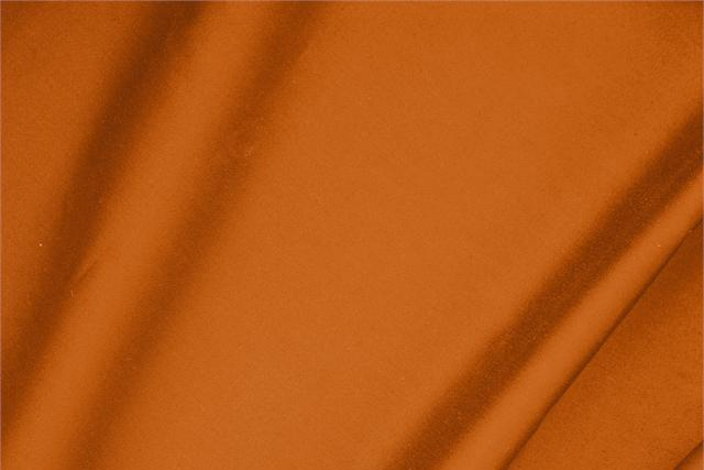 Buy online our clothing and fashion fabric 'Mandarino' Orange  Cotton sateen stretch, Made in Italy. - new tess
