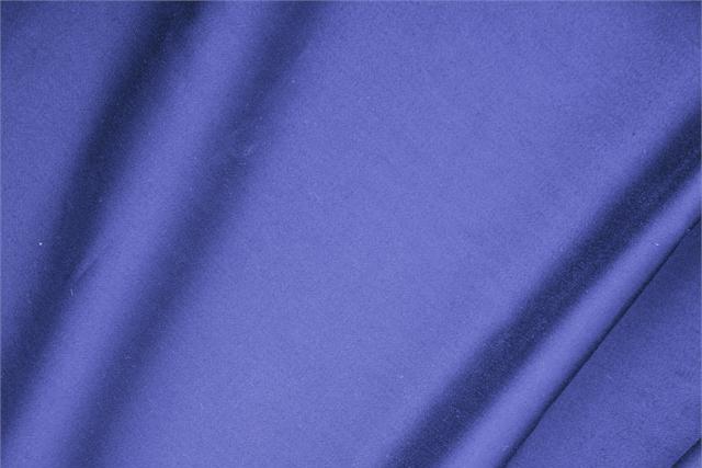 Buy online our clothing and fashion fabric 'Zaffiro' Blue  Cotton sateen stretch, Made in Italy. - new tess