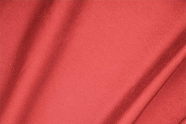 Buy online our clothing and fashion fabric 'Corallo' Orange  Cotton sateen stretch, Made in Italy. - new tess