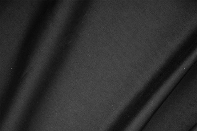Buy online our clothing and fashion fabric Black  Cotton sateen stretch, Made in Italy. - new tess