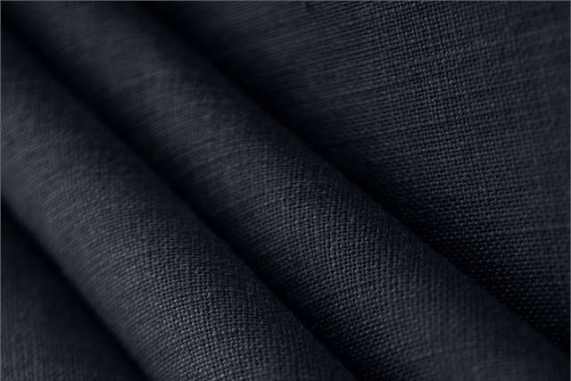 Buy online our clothing and fashion fabric 'Navy' Blue  Linen Canvas, Made in Italy. - new tess