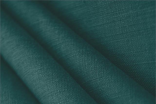 Achetez notre tissu pour habillement, haute couture et mode Toile de lin Bleu 'Petrolio', Made in Italy. - new tess