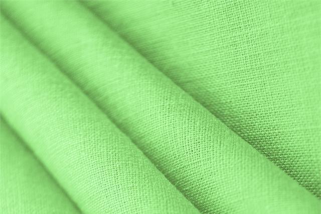 Linfa Green Linen Linen Canvas fabric for dressmaking