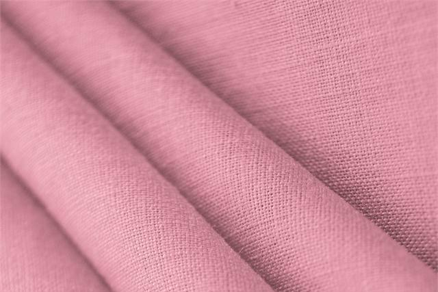 Buy online our clothing and fashion fabric 'Oleandro' Pink  Linen Canvas, Made in Italy. - new tess