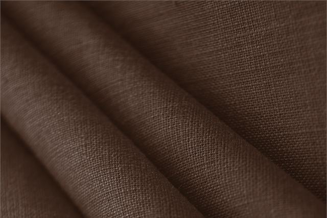 Buy online our clothing and fashion fabric 'Caffe' Brown  Linen Canvas, Made in Italy. - new tess