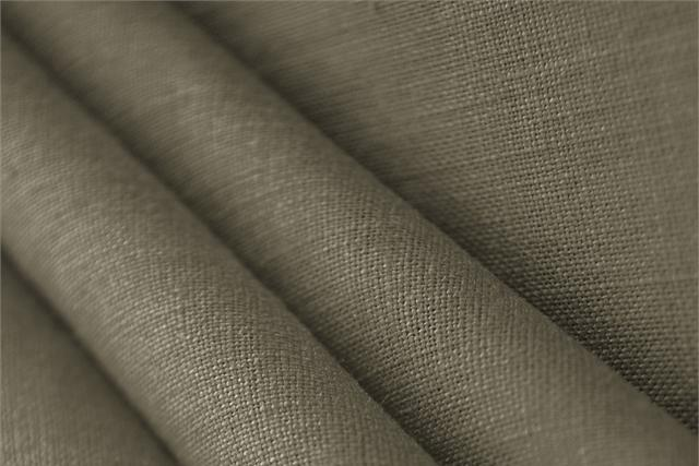Buy online our clothing and fashion fabric 'Kaki' Brown  Linen Canvas, Made in Italy. - new tess