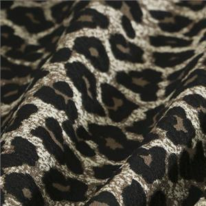 Beige, Black, Brown Mixed Animals Jacquard fabric for Dress, Jacket, Light Coat, Skirt.