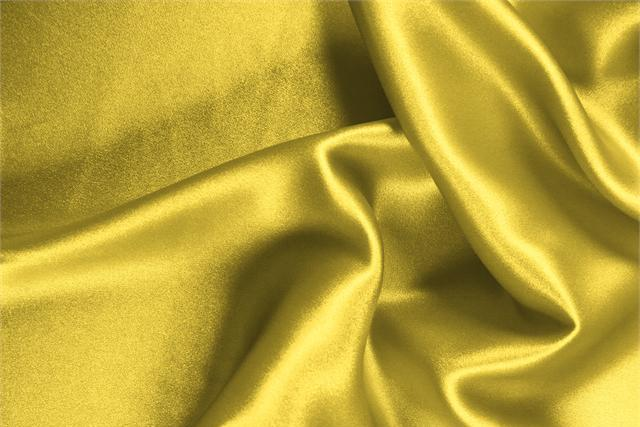 Buy online our clothing and fashion fabric 'Primula' Yellow Silk Crêpe Satin, Made in Italy. - new tess