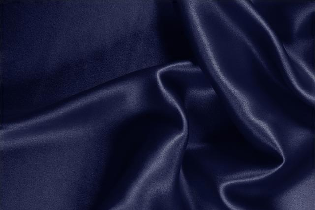Buy online our clothing and fashion fabric 'Marine' Blue Silk Crêpe Satin, Made in Italy. - new tess