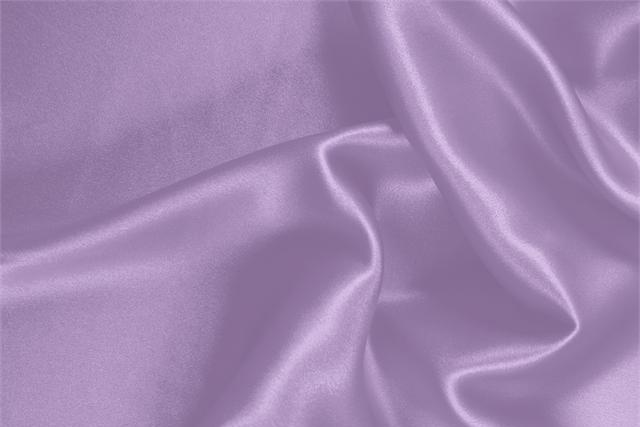 Buy online our clothing and fashion fabric 'Lilla' Purple Silk Crêpe Satin, Made in Italy. - new tess