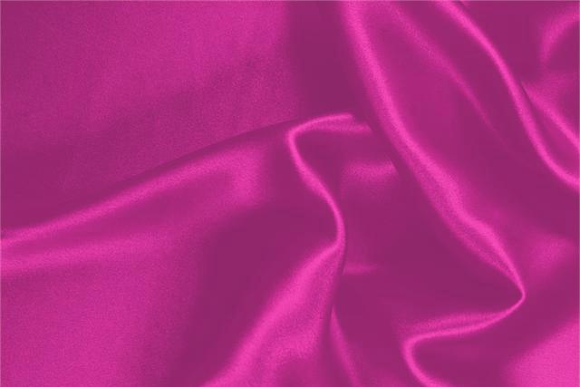 Achetez notre tissu pour habillement, haute couture et mode Crêpe Satin Fuxia 'Ciclamino' en Soie, Made in Italy. - new tess