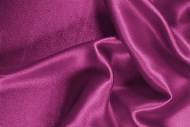 Buy online our clothing and fashion fabric 'Iris' Purple Silk Crêpe Satin, Made in Italy. - new tess