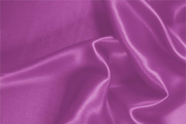 Buy online our clothing and fashion fabric 'Orchidea' Fuxia Silk Crêpe Satin, Made in Italy. - new tess