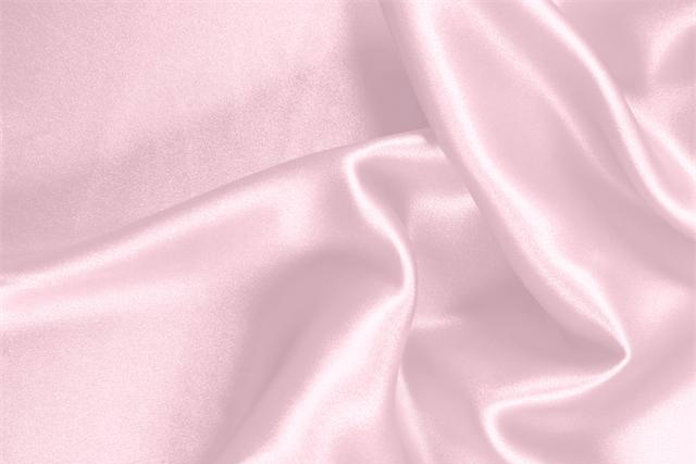 Buy online our clothing and fashion fabric 'Baby' Pink Silk Crêpe Satin, Made in Italy. - new tess