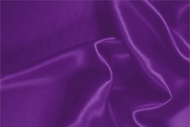 Buy online our clothing and fashion fabric 'Cardinale' Purple Silk Crêpe Satin, Made in Italy. - new tess